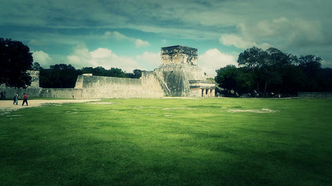 Chichen Itza Mexico Yucatan 30 handheld stylized Stock Video Footage