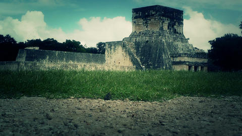 Chichen Itza Mexico Yucatan Kukulcan Pyramid handheld 34... Stock Video Footage