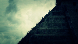 Chichen Itza Mexico Yucatan Kukulcan Pyramid handheld... Stock Video Footage