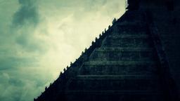 Chichen Itza Mexico Yucatan Kukulcan Pyramid handheld stylized 38 Footage