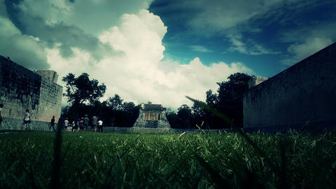 Chichen Itza Mexico Yucatan 44 stylized Stock Video Footage