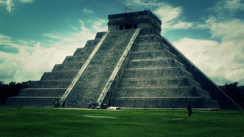 Chichen Itza Mexico Yucatan Kukulcan Pyramid 50 stylized Footage