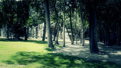 Chichen Itza Mexico Yucatan 54 stylized Stock Video Footage