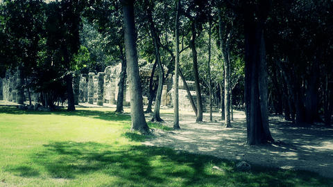 Chichen Itza Mexico Yucatan 54 stylized Stock Video Footage