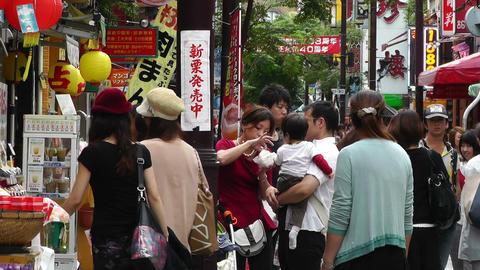 China Town in Yokohama Japan 02 Stock Video Footage