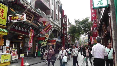China Town in Yokohama Japan 04 Stock Video Footage