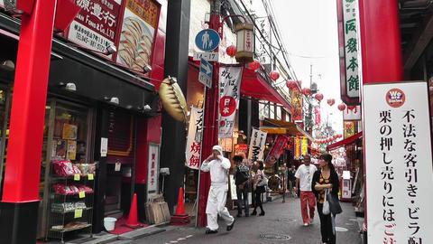 China Town in Yokohama Japan 06 Stock Video Footage