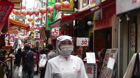 China Town in Yokohama Japan 08 Stock Video Footage
