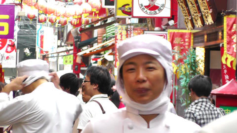China Town in Yokohama Japan 10 Stock Video Footage