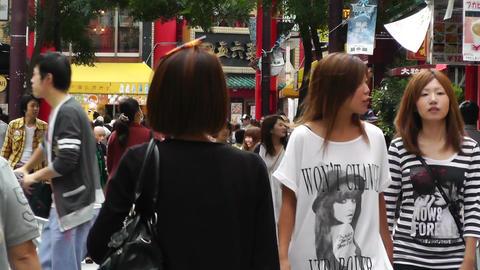 China Town in Yokohama Japan 12 Stock Video Footage