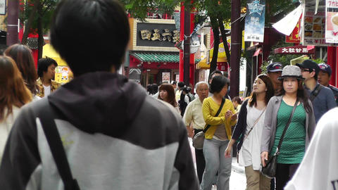 China Town in Yokohama Japan 12 Stock Video Footage