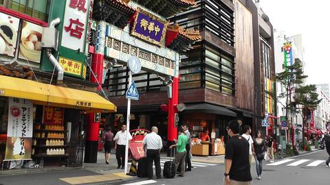 China Town in Yokohama Japan 14 Stock Video Footage
