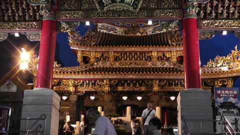 Chinese Shrine in Yokohama Chinatown Japan 02 Stock Video Footage