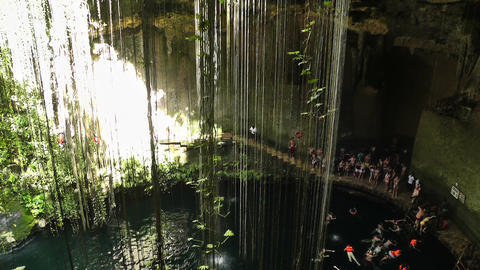 Dzonot Dzitnup Cenote in Mexico Yucatan 03 Footage