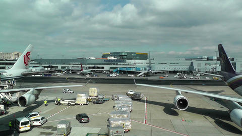 Frankfurt International Airport Germany 01 Stock Video Footage