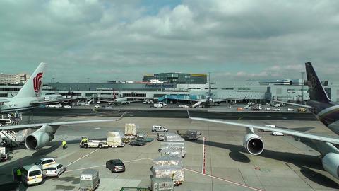 Frankfurt International Airport Germany 01 Stock Video Footage