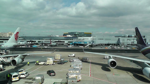 Frankfurt International Airport Germany 01 Footage