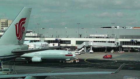 Frankfurt International Airport Germany 03 Stock Video Footage
