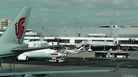 Frankfurt International Airport Germany 03 Stock Video Footage