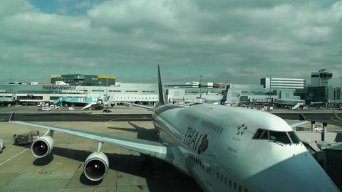 Frankfurt International Airpor t Germany 5 thai Stock Video Footage