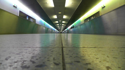 Frankfurt International Airport Germany 7 tunnel Stock Video Footage