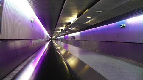 Frankfurt International Airport Germany 09 tunnel Stock Video Footage