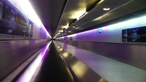 Frankfurt International Airport Germany 09 tunnel Footage