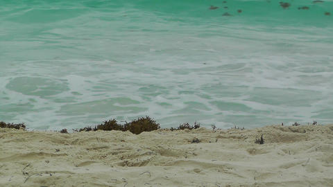Sandy Beach and Waves Stock Video Footage