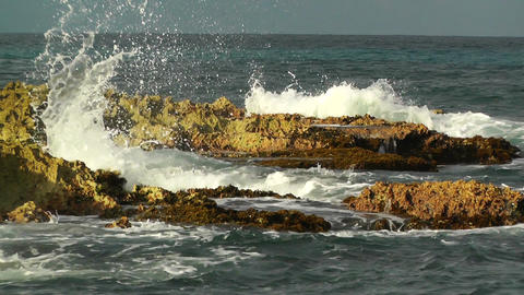 Waves and Rocks 04 Stock Video Footage