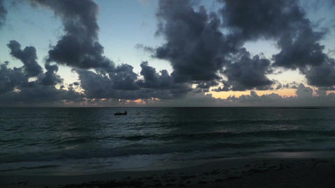 Sunrise over the Caribbean 01 Stock Video Footage