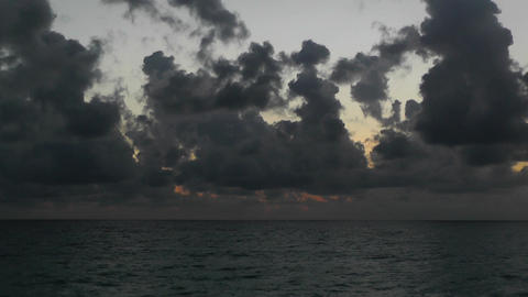 Sunrise over the Caribbean 03 Stock Video Footage