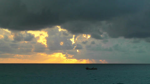 Sunrise over the Caribbean Timelapse 01 Stock Video Footage