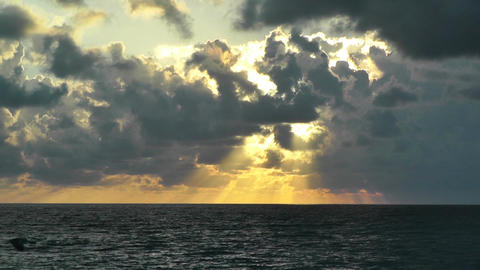 Sunrise over the Caribbean Timelapse 01 Footage