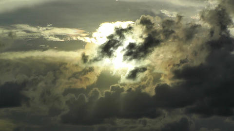 Sunset Clouds Timelapse Stock Video Footage