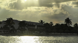 Sunset over the Caribbean 02 Stock Video Footage
