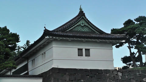 Tokyo City View from the Imperial Palace Japan Stock Video Footage
