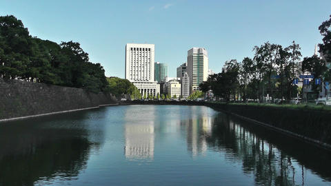 Tokyo City View from the Imperial Palace Japan 03 Stock Video Footage