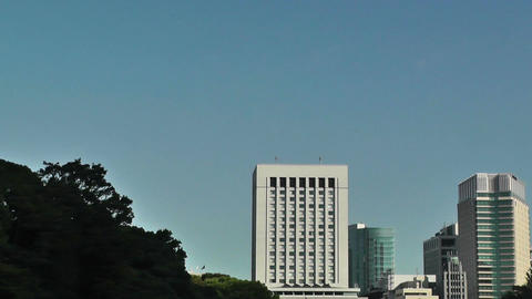 Tokyo Imperial Palace 06 pan Footage