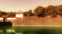 Tokyo Imperial Palace Japan 03 stylized Stock Video Footage