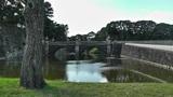 Tokyo Imperial Palace Japan Nijubashi Bridge Footage