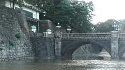 Tokyo Imperial Palace Japan Nijubashi Bridge 03 Stock Video Footage