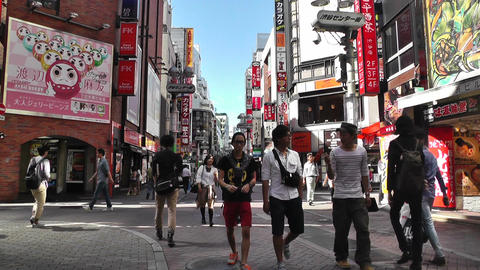 Tokyo Shibuya Japan 15 Stock Video Footage