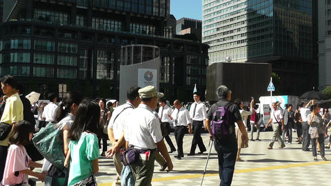 Tokyo Station exterior Japan Stock Video Footage