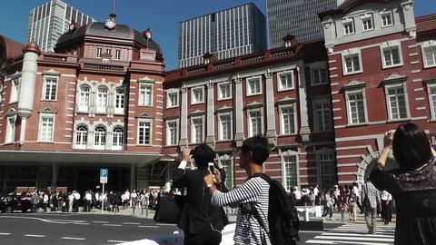 Tokyo Station Japan 07 pan Stock Video Footage