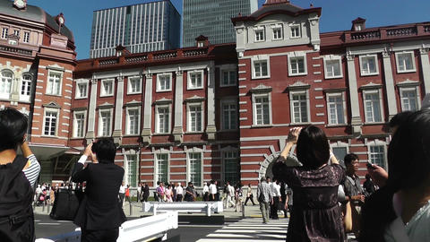 Tokyo Station Japan 07 pan Stock Video Footage