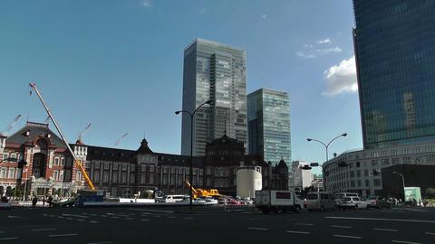 Tokyo Station Japan 11 pan Stock Video Footage