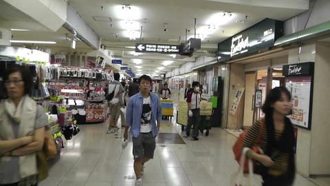 Tokyo Station Subway Japan 02 Stock Video Footage