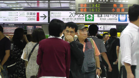 Tokyo Station Subway Japan 04 Stock Video Footage