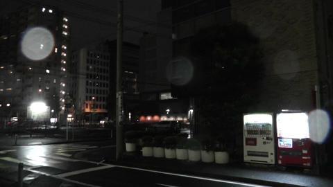 Typhoon in Yokohama Japan 03 handheld Stock Video Footage