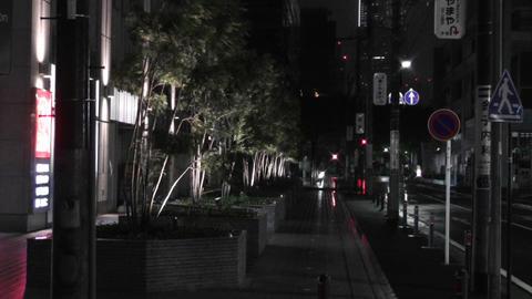Typhoon in Yokohama Japan 05 handheld Stock Video Footage